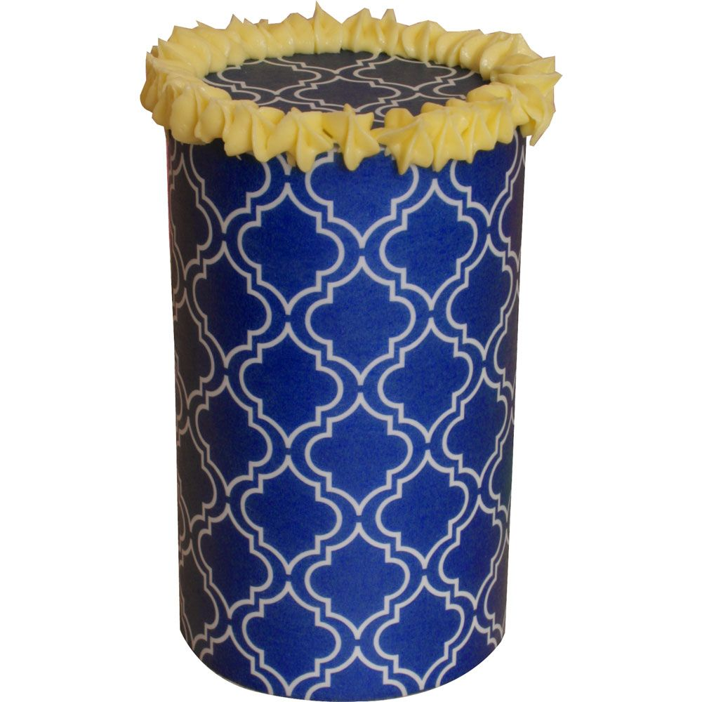 Patterned Paper(A4) - Moroccan - Blue. Pack of 6.