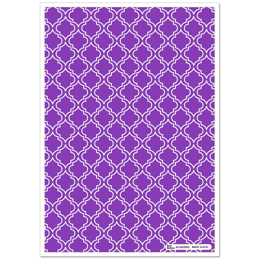 Patterned Paper(A4) - Moroccan - Purple. Pack of 6