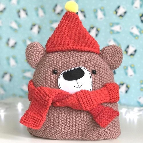 Gift Horse: Christmas Chunky Bear Knitting Kit