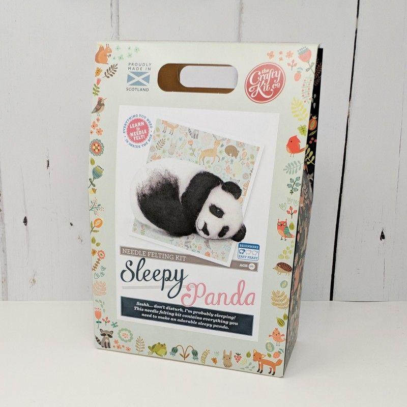 Crafty Kit Company  Sleepy Panda Needle Felting Kit