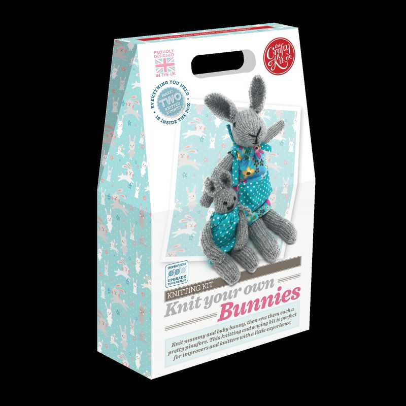 Crafty Kit Company  Knit Your Own Bunnies Kit