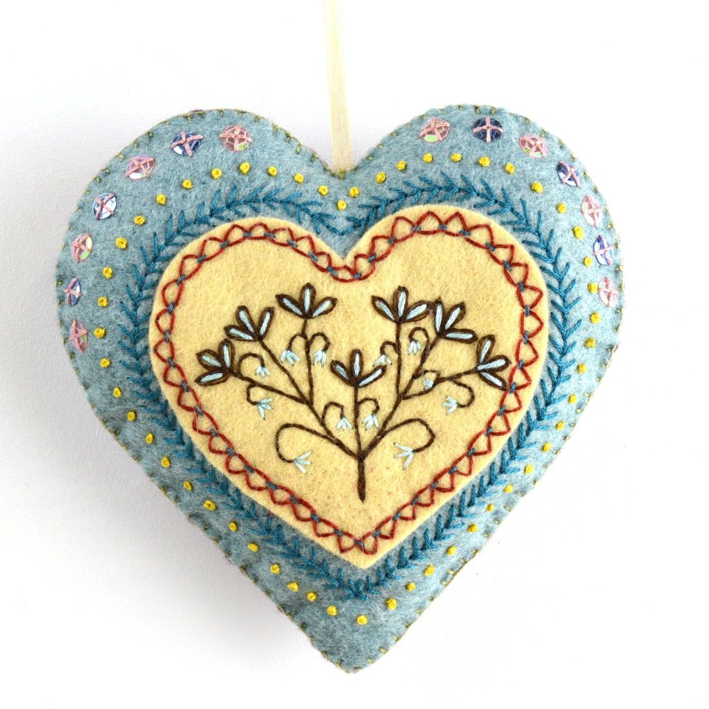 Corinne Lapierre: Embroidered Heart