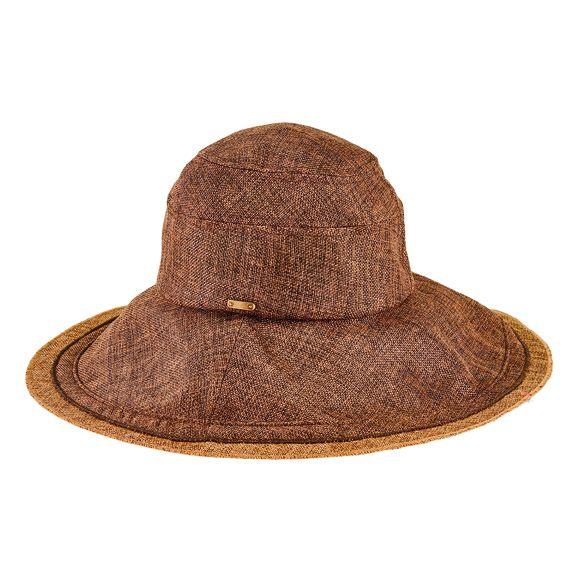 CTH2700OSBRN- Cut & sew textured 2-tone bucket: Brown