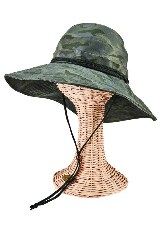 CTH8021OSCMO- Active sun brim hat: Black Camo