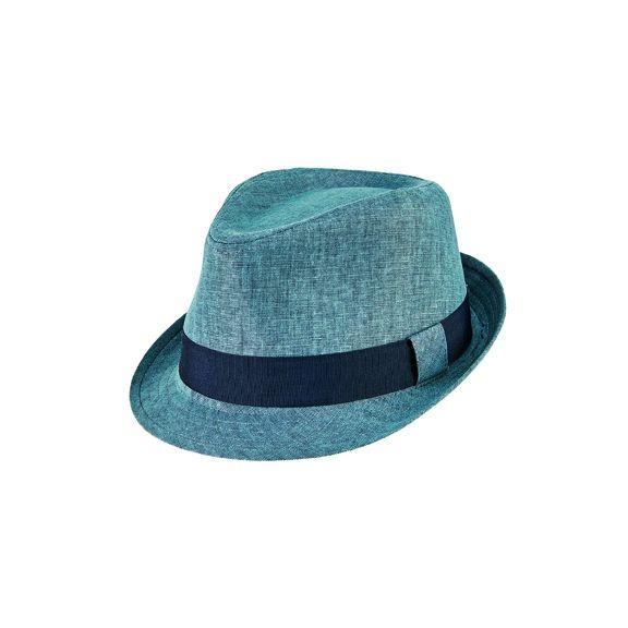 CTH9029SMBLU- Cut & sew fedora: Blue