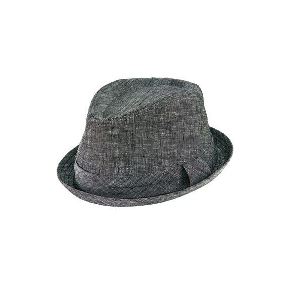 CTH9031SMGRY- Cut & sew porkpie: Grey