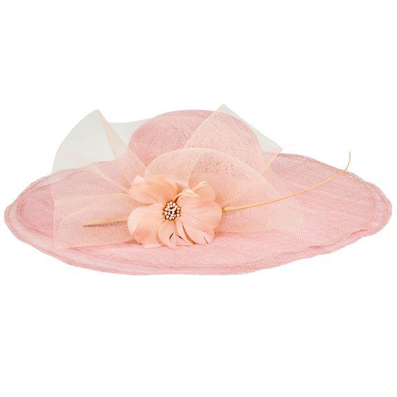 DRS1053OSBSH- Round crown double brim hat: Blush