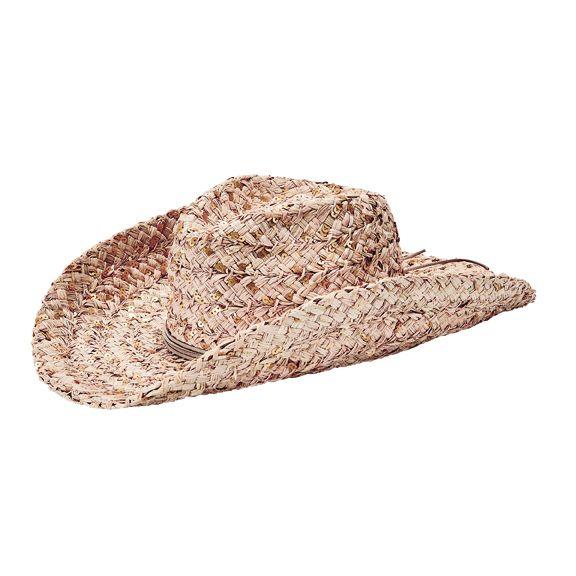 RHC1086OSNAT- Raffia braid cowboy hat: Natural