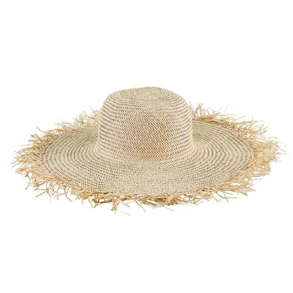 SPS1006OSNAT- Straw round crown sun hat: Natural