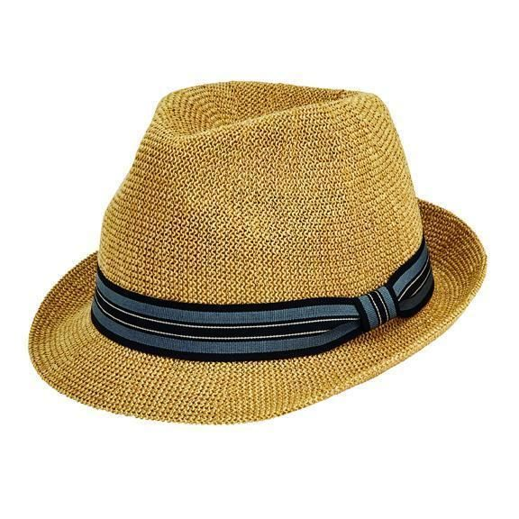 PBF7327SMBGE- Knitted Paper fedora: Beige