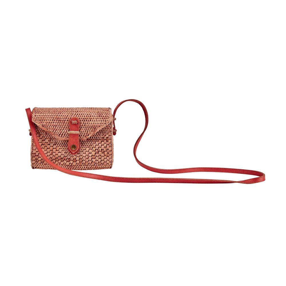 BSB3575OSNAT- Handwoven ata reed envelope bag: Natural
