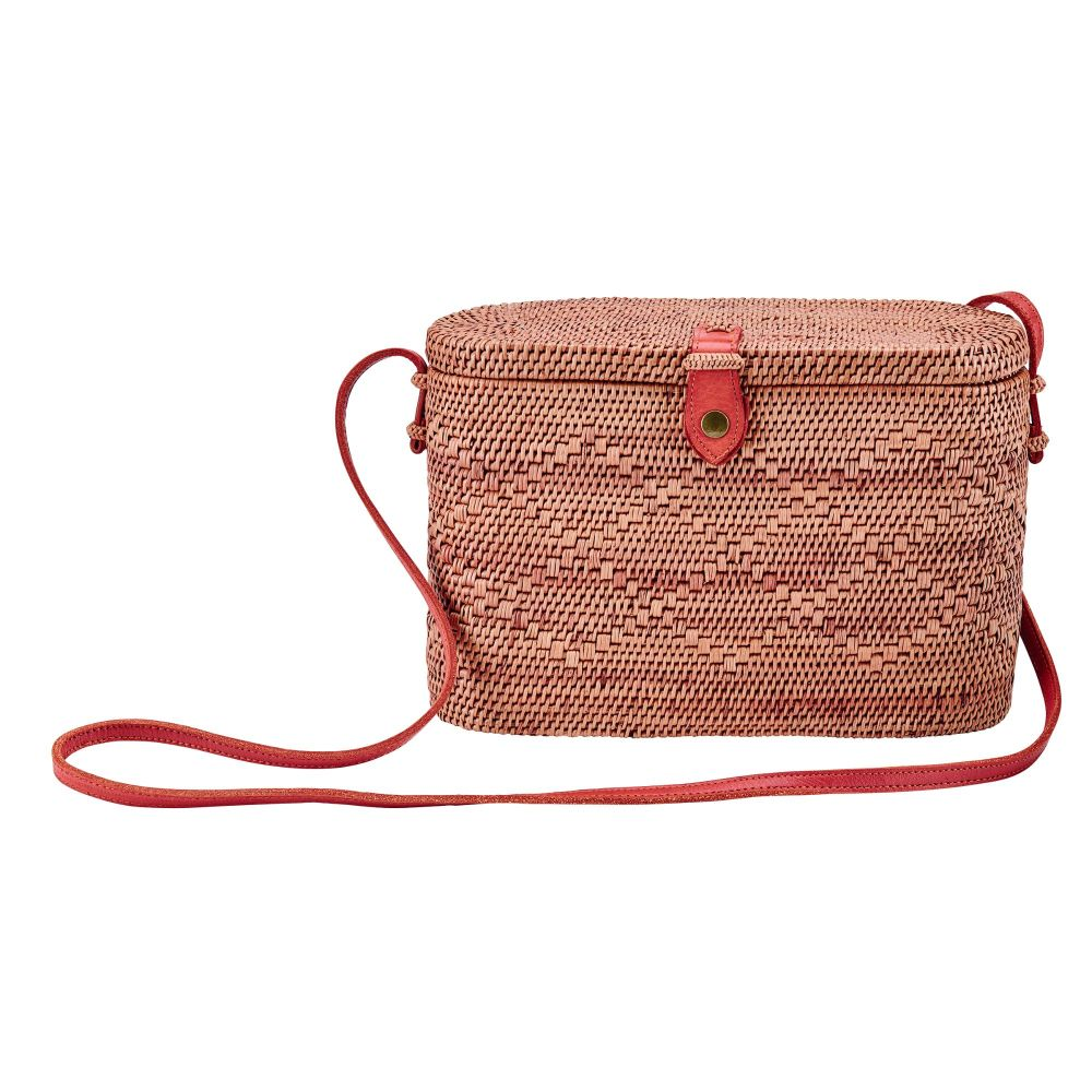BSB3576OSNAT- Handwoven ata reed basket bag: Natural