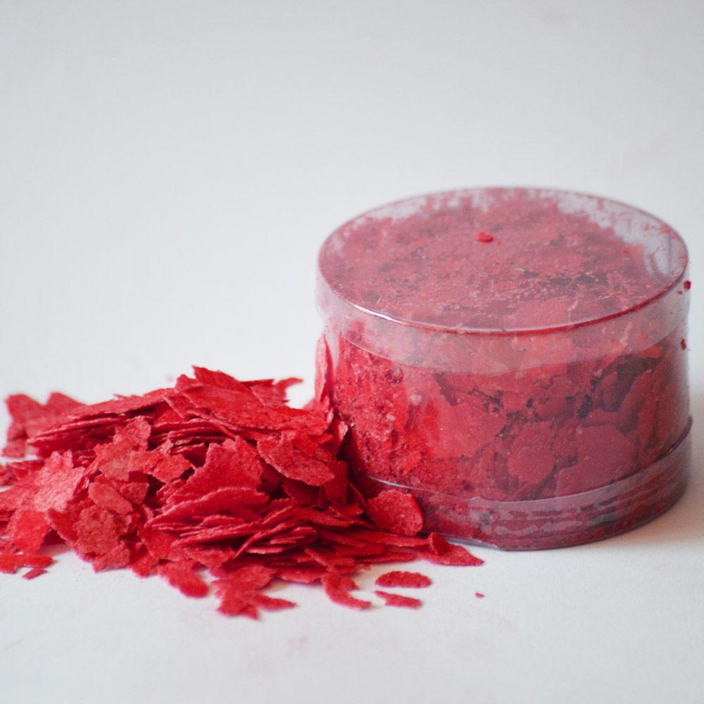 Edible Cake Flakes: Christmas Red 1