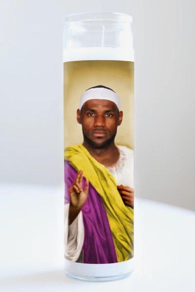 Illuminidol Celebrity Prayer Candle: LEBRON JAMES (Lakers)