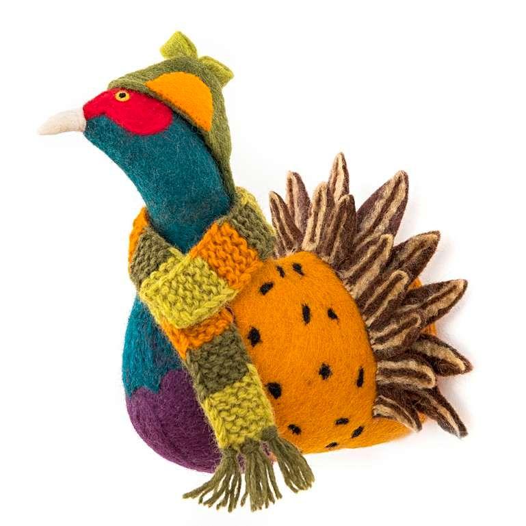 Sew Heart Felt: Sherlock Pheasant Head