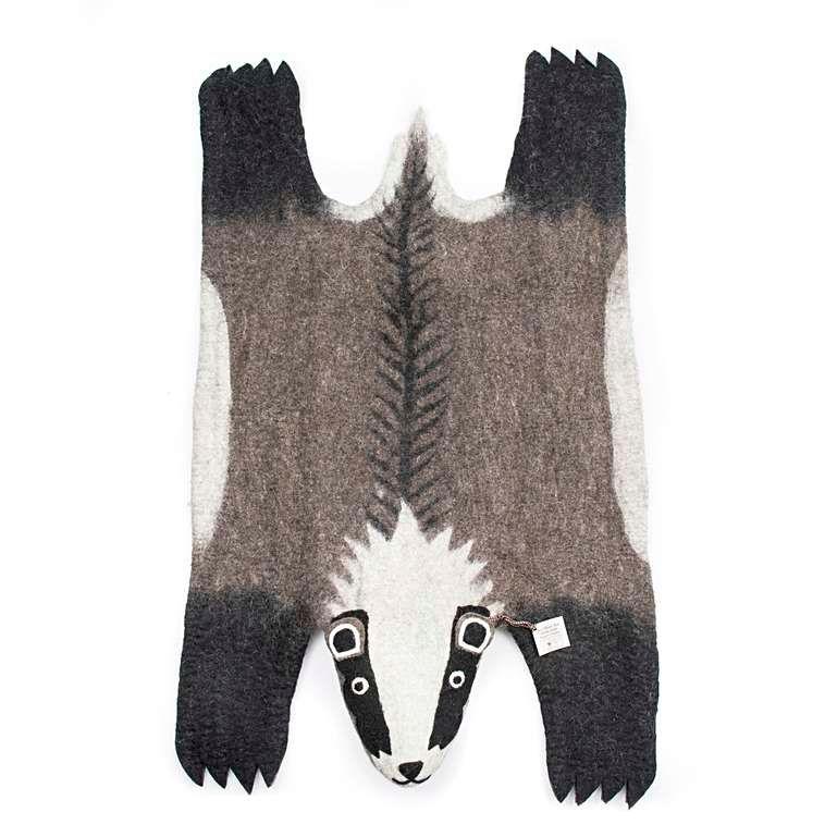 Sew Heart Felt: Super Sized Billie Badger Rug