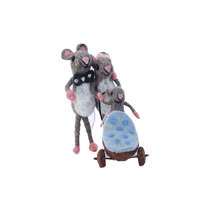Sew Heart Felt: Blue Stroller Felt Mouse