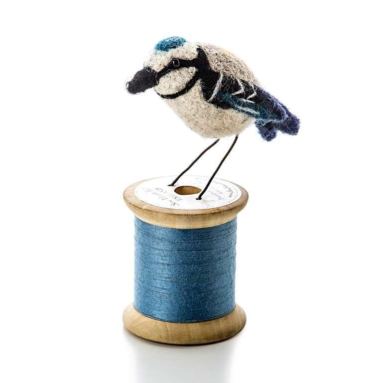 Sew Heart Felt: Blue Tit Bird on a Bobbin