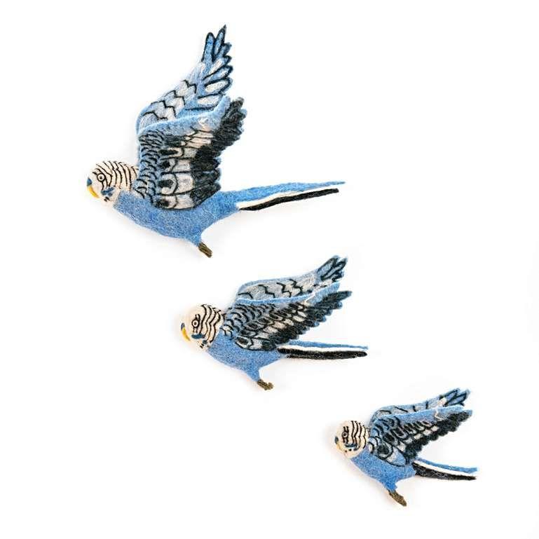 Sew Heart Felt: Flying Bird Budgie Trio