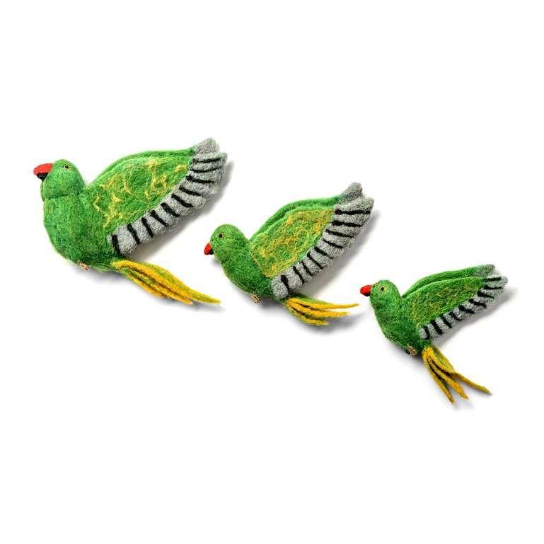 Sew Heart Felt: Flying Parakeet Trio