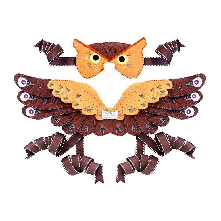Sew Heart Felt: Owl Head Dress and Wings
