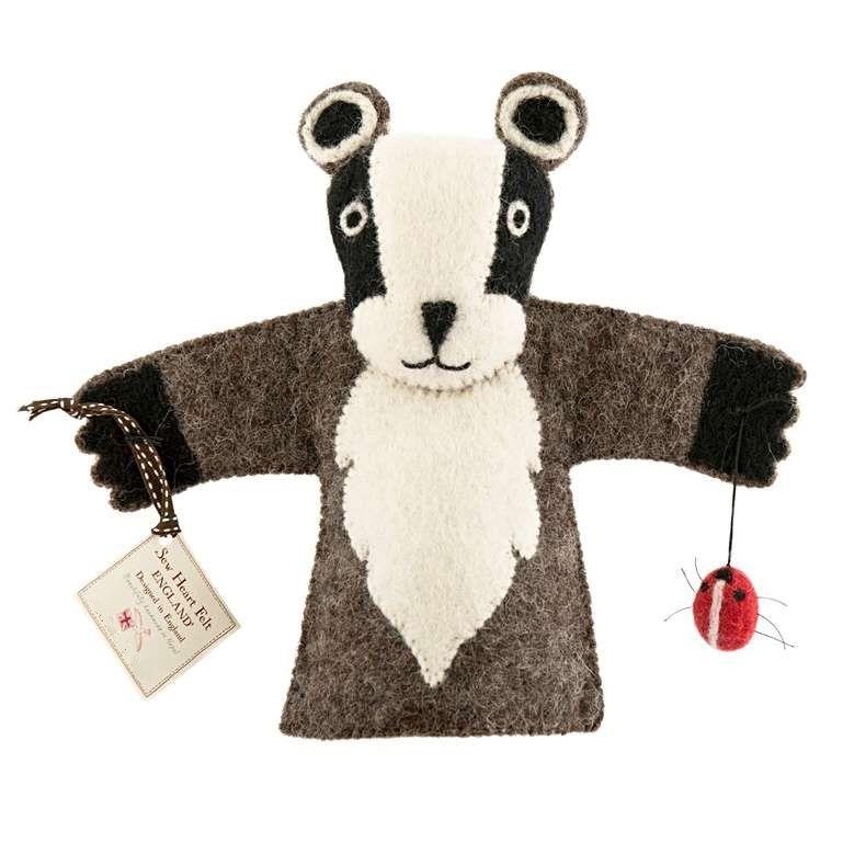 Sew Heart Felt: Billie Badger Hand Puppet