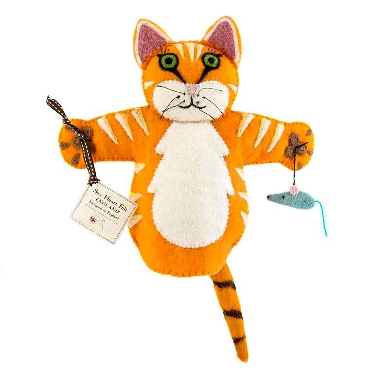 Sew Heart Felt: Ginger the Cat Hand Puppet