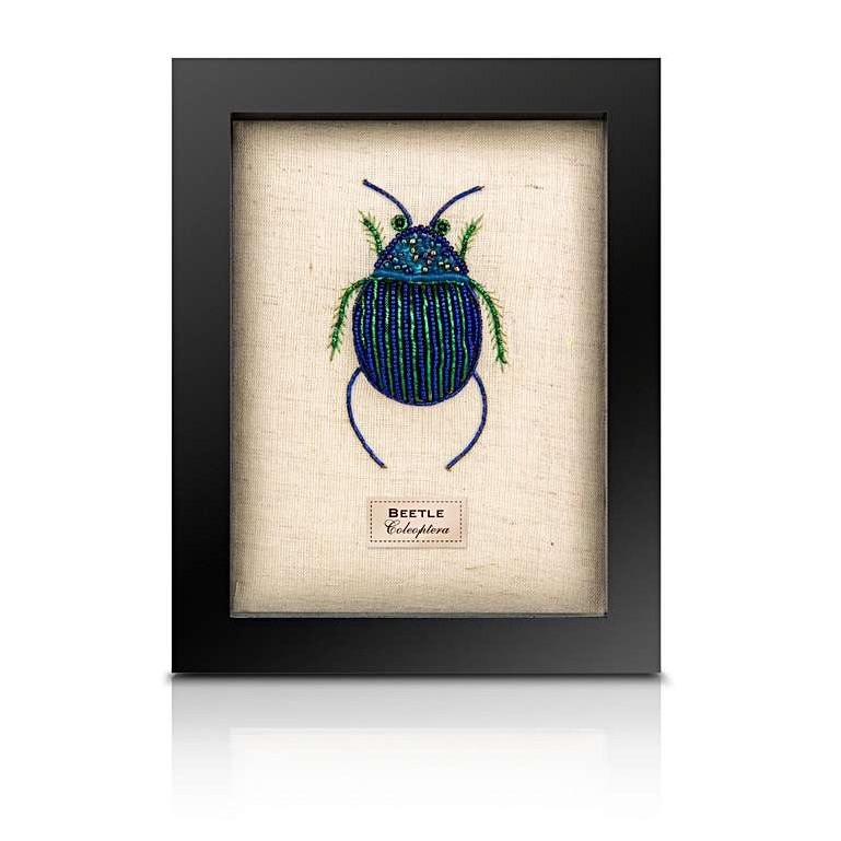 Sew Heart Felt: Beaded Fat Blue Beetle