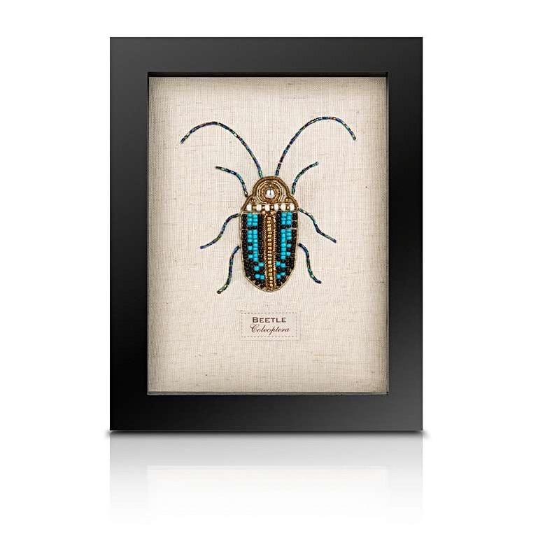 Sew Heart Felt: Beaded Scarab Beetle