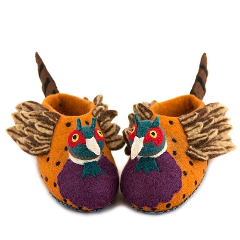 Sew Heart Felt: Freddie the Pheasant Slippers