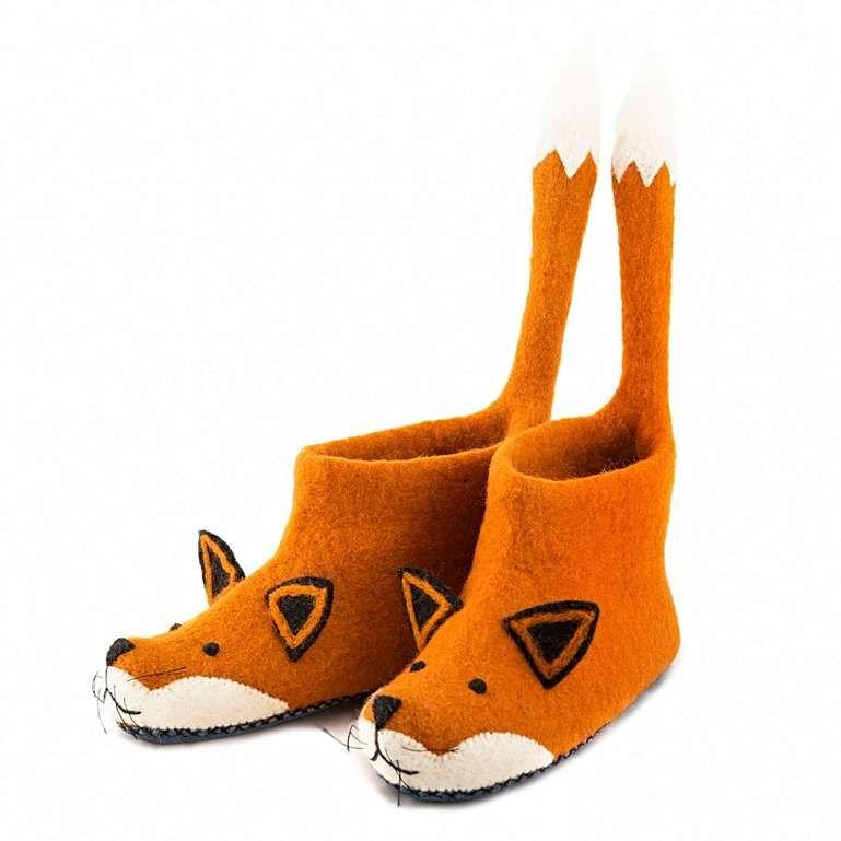Sew Heart Felt: Finlay Fox Slippers