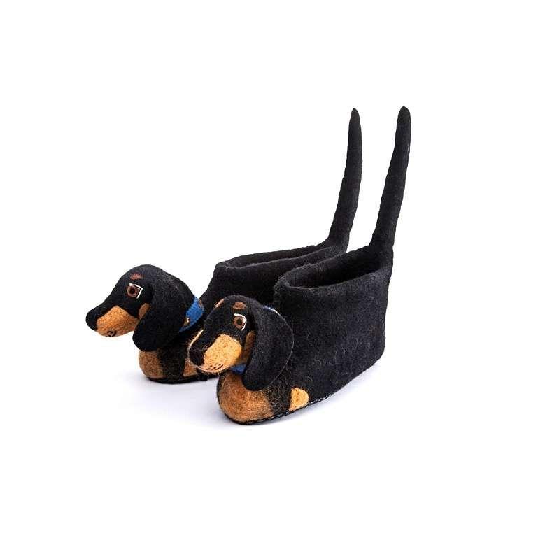 Sew Heart Felt: Desmond Dachshund Dog Slippers