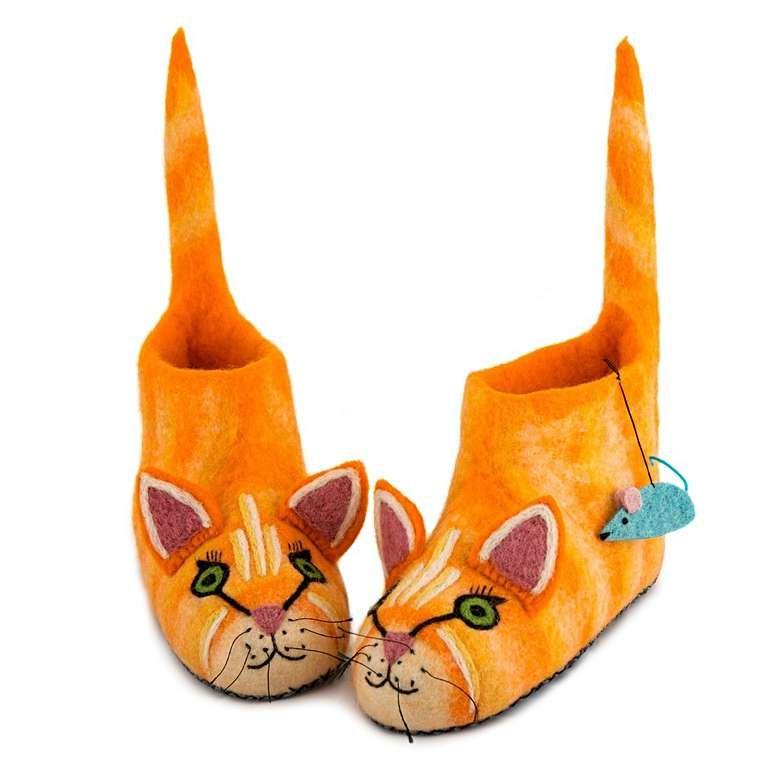 Sew Heart Felt: Ginger the Cat Slippers