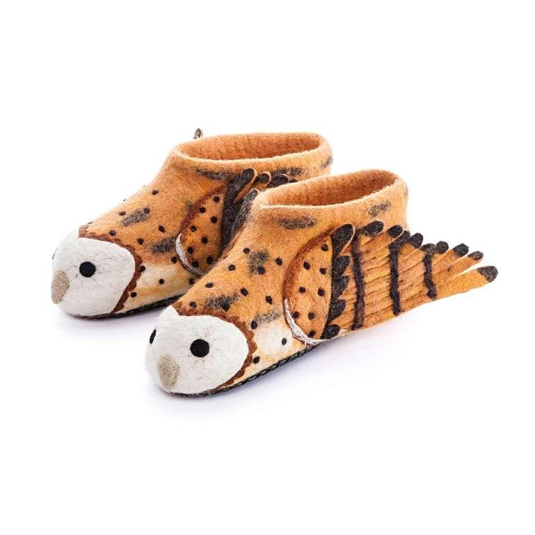 Sew Heart Felt: Barney Owl Slippers