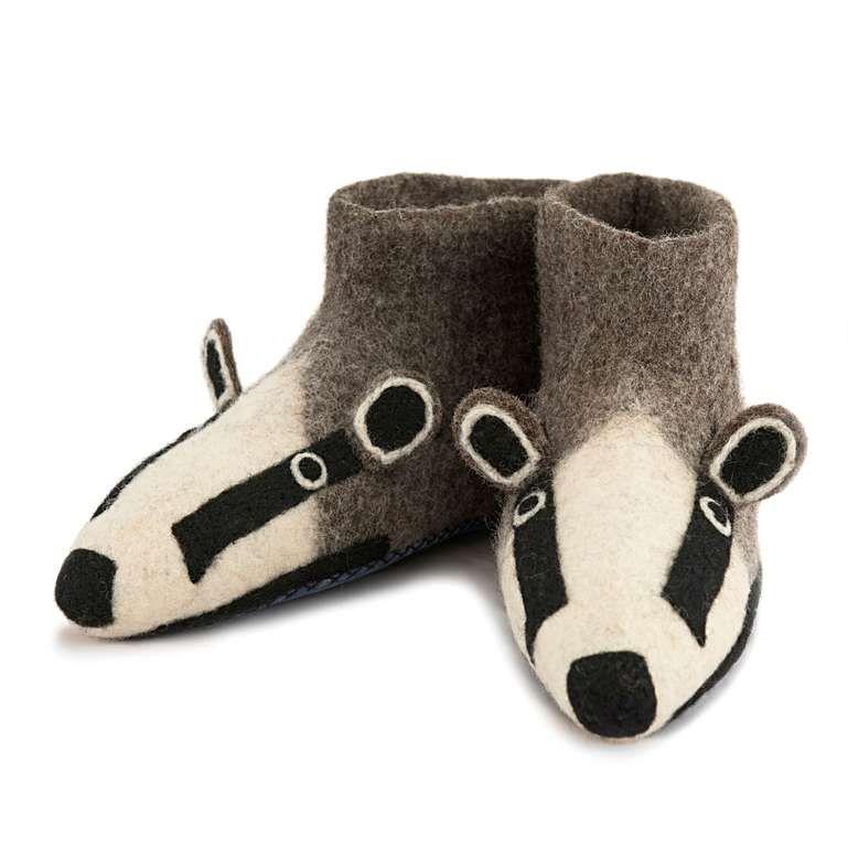 Sew Heart Felt: Billie Badger Slippers