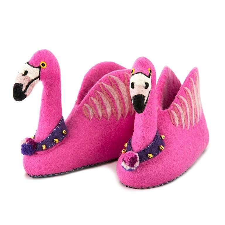 Sew Heart Felt: Alice the Flamingo Slippers
