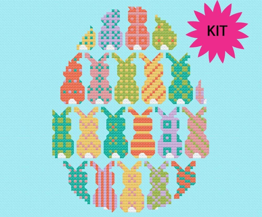 Cinnamon Stitch: Easter Bunny Cross Stitch Kit
