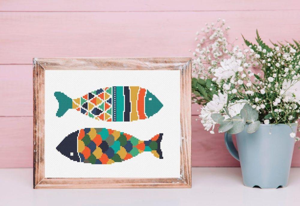 Cinnamon Stitch: Fish Cross Stitch Kit