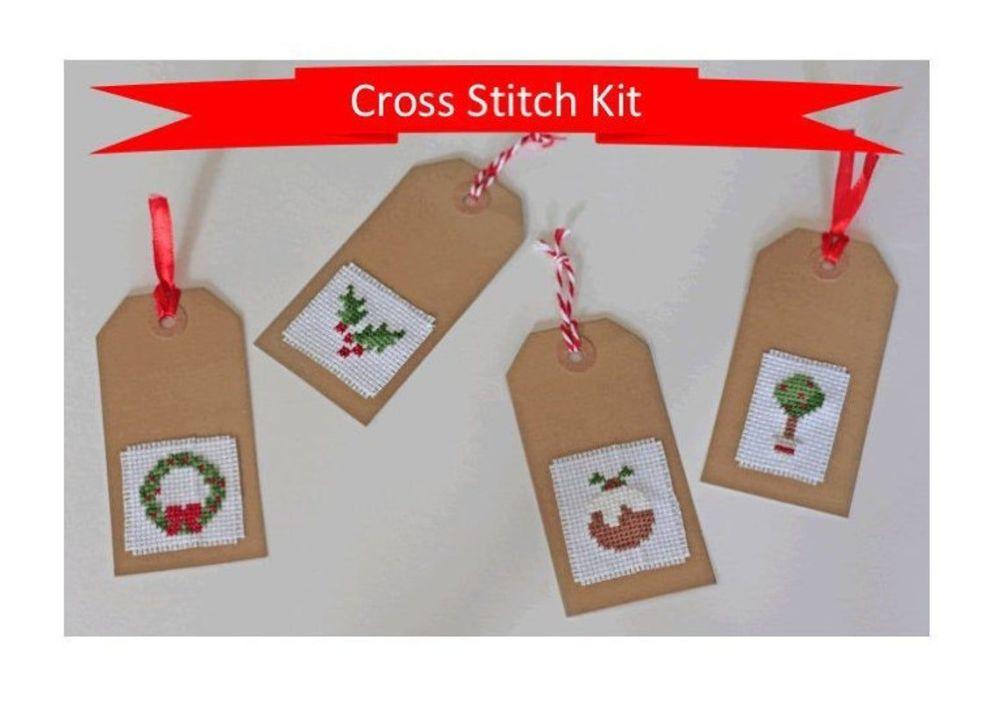 Cinnamon Stitch: Christmas Gift Tags Cross Stitch Kit - Traditional