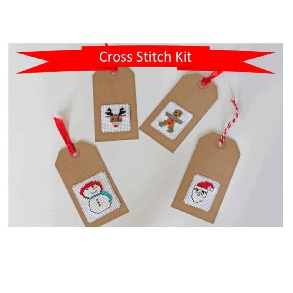 Cinnamon Stitch: Christmas Gift Tags Cross Stitch Kit - Children's