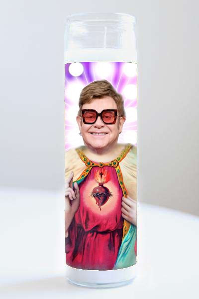 Celebrity Prayer Candle: Elton John