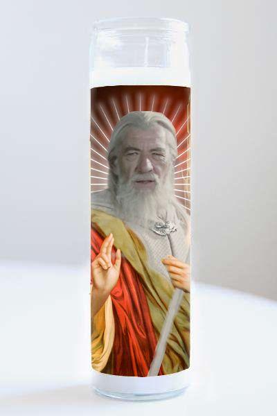Celebrity Prayer Candle: Gandalf