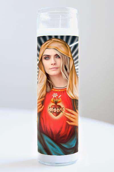 Celebrity Prayer Candle: Cara Delevingne