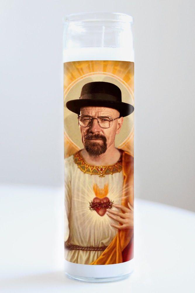 Celebrity Prayer Candle: BRYAN CRANSTON (HEISENBERG) (Breaking Bad - Walter White)