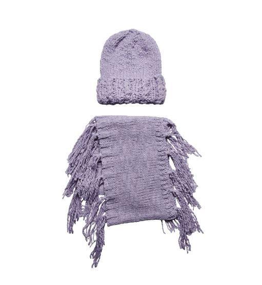 San Diego Hat Company: Women's chunky knit beanie and infinity scarf with f