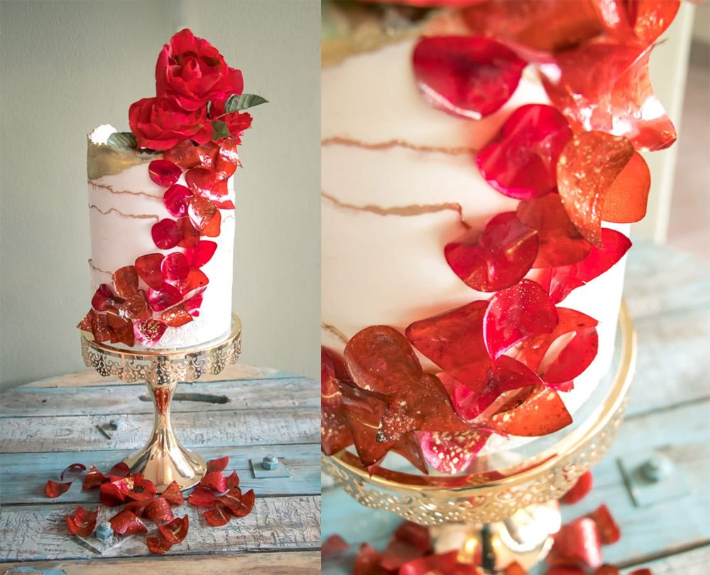 Crystal Candy Sweet  and Edible Rose Petals