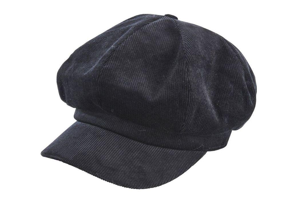 San Diego Hat Company: Women's cord baker boy cap