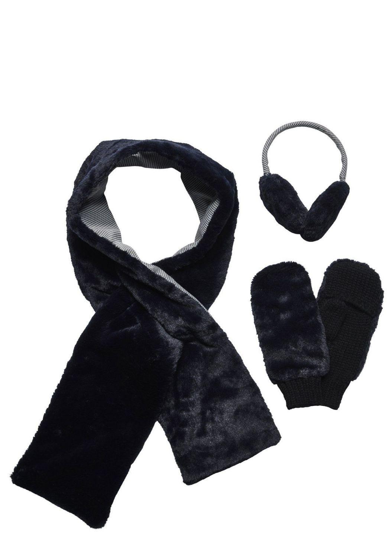 San Diego Hat Company: Women's faux fur neon scarf, earmuff, and glove set