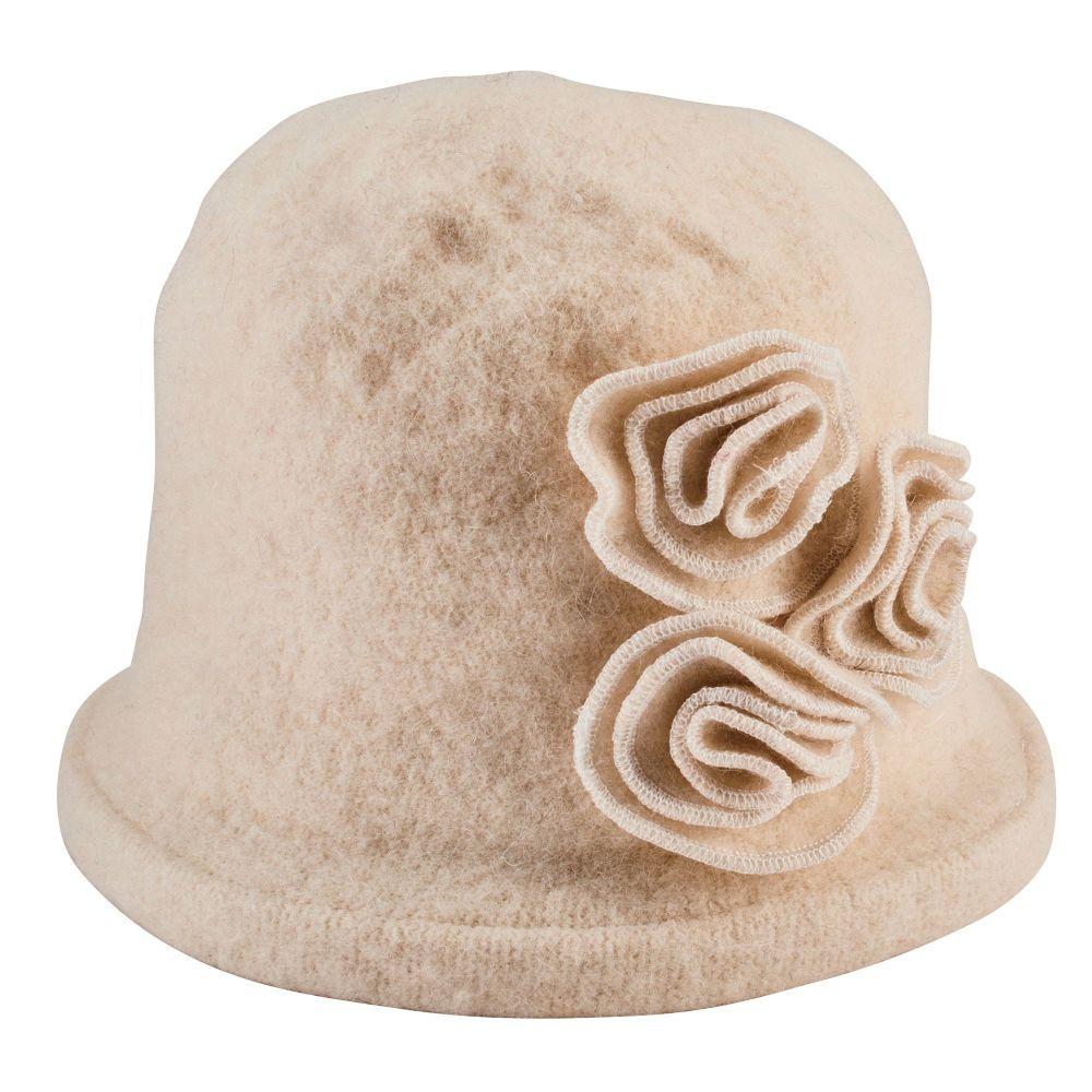 San Diego Hat Company: Women's Soft Knit Cloche With Flower