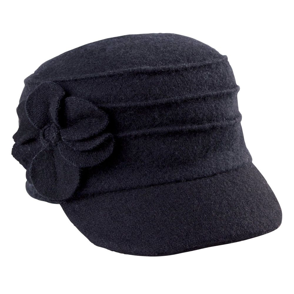 San Diego Hat Company: Women's Wool Cadet With Flower